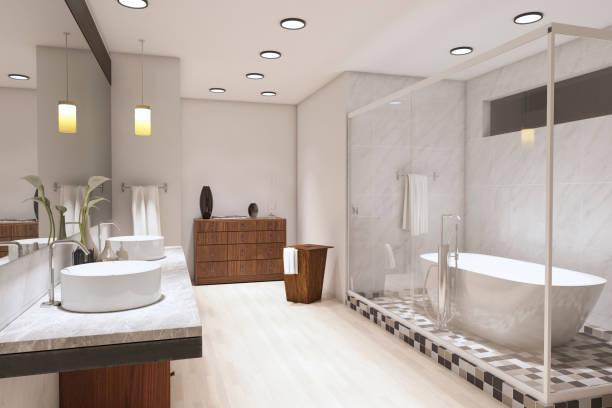 Luxurious Bathroom ( 3d render )