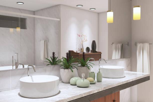 Modern Bathroom ( 3d render )